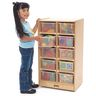 10-Cubbie Mobile Storage - With Assorted Color Trays