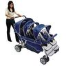 Angeles® SureStop™ Folding Commercial Bye-Bye® Stroller - 6 Seat