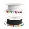 Colorations® Set of Black & White Beading Elastic - 200 yards
