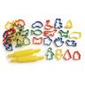 Dough Cutter Assortment & Rollers - Set of 34