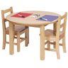 "30"" Round Maple Laminate Table - 16""H"