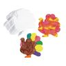 Liquid Watercolor™ Paper Turkeys - Set of 36