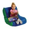 Toddler High-Back Beanbag Chair - Green/Blue