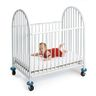 L.A. Baby Deluxe Arched Metal Mini Crib