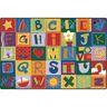 Alphabet Blocks 8' x 12' Rectangle KIDSoft Premium Carpet