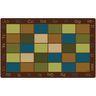 "Nature's Colors Seating 7'6"" x 12' Rectangle Premium Carpet"