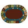 Learning Blocks Nature 6' x 9' Oval Premium Carpet