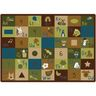"Learning Blocks Nature 8'4"" x 11'8"" Rectangle Premium Carpet"