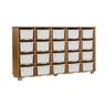 TrueModern® 20-Cubby Shelf Storage - White Trays