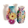 Colorations® Decorate Your Own Ceramic Vases - Set of 12