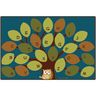 Owl-phabet Tree 6' x 9' Rectangle Premium Carpet