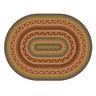"Environments® Small EarthTextures™ Braid Carpet - 4' 5"" x 5' 10""  Oval"