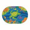 Environments® Medium Coral Reef Carpet - 6' x 9' Oval