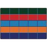 Color Blocks Seating 6' x 9' Rectangle Kids Value PLUS Carpet