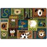 Animal Sounds Nature 6' x 9' Rectangle KIDSoft Premium Carpet