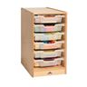 Clear Tray Rolling Single Column Storage Cabinet