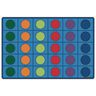 Seating Circles Rug - 8' x 12' Rectangle