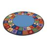 "Colorful ABC Carpet - 6'6"" Round"