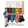 Jonti-Craft® 10-Section Wall Mount Coat Locker with Storage - with Colored Cubbie Trays