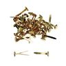 """1"""" Brass Plated Paper Fasteners - 100 Pieces"""