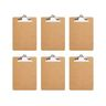 Officemate® Letter Size Wood Clip Board - Set of 6