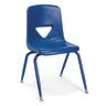"Blue 9-1/2"" Scholar Craft™ Stacking Chair with Matching Legs"