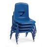 """Blue 7-1/2""""H Scholar Craft™ Stack Chair with Matching Legs - Set of 5"""