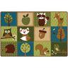 Nature's Friends 4' x 6' Rectangle KIDSoft Premium Carpet