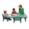 """Angeles® BaseLine® Rectangular Toddler Table & Chair Set - 48""""L x 30""""W x 12""""H w/4 Chairs, Teal"""