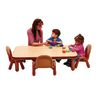 """Angeles® BaseLine® Rectangular Toddler Table & Chair Set - 48""""L x 30""""W x 12""""H w/4 Chairs, Natural"""