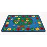 """Trees & Apples Alphabet - 8'5"""" X 11'9"""" by Learning Carpets™"""