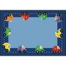 """Cars Value Rug with Numbers - 4'8"""" x 5'10"""" Rectangle"""