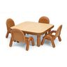 """Angeles® BaseLine® 30"""" x 30"""" Square Toddler Table & Chair Set - Natural"""