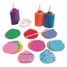 Colorful Paper Ornament Shapes - Pack of 100