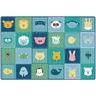 Baby Animals Patchwork Carpet - 8' x 12'