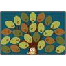 "Owl-phabet Tree 8'4"" x 13'4"" Rectangle Premium Carpet"