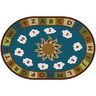 Sunny Day Learn & Play Nature 4' x 6' Oval Premium Carpet