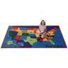 USA Map 8' x 12' Rectangle Kids Value PLUS Carpet