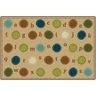 Alphabet Dots 8' x 12' Rectangle KIDSoft Premium Carpet