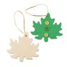 Colorations® Hanging Wood Leaves Set of 12