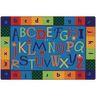 Alphabet Around Literacy 4' x 6' Rectangle KIDSoft Premium Carpet