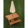 Outdoor Picnic Table with Umbrella