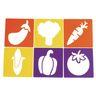 Colorations® Fruit & Vegetable Stencils Set of 12