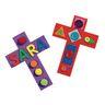 Colorful Foam Crosses Set of 24