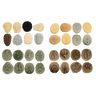 Footprints, Bugs & Fossils Stones Set of 32