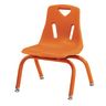 "10""H Chair with matching legs - Orange"