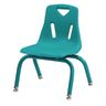 """10""""H Chair with matching legs - Teal"""