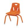 """Single 12"""" Berries® Stacking Chairs with Matching Legs - Orange"""