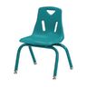 "Single 12"" Berries® Stacking Chairs with Matching Legs - Teal"