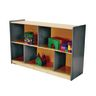 "Environments® 30"" Forest Wood Divided Shelf Gray"